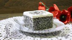 Prajitura cu mac si frisca(Revani) - Reteta VIDEO Vanilla Cake, Cheesecake, Desserts, Food, Tailgate Desserts, Deserts, Cheese Pies, Cheesecakes, Meals