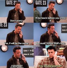 Awwww, Joey and Chandler. Classic bromance Awwww, Joey and Chandler. Friends Tv Show, Friends Funny Moments, Serie Friends, Friends Episodes, Friends Series Quotes, Friends Cast, Ross Geller, Chandler Bing, Phoebe Buffay