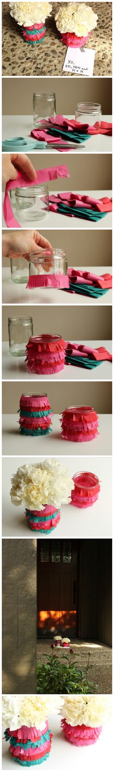 Tea lights maybe Diy Projects To Try, Crafts To Do, Craft Projects, Diy Party Decorations, Diy For Girls, Bottle Crafts, Diy Paper, Crafty, Flower Vases