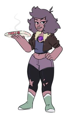 Amethyst and Jenny Fusion     Steven Universe Fan Art by discount-supervillain on Tumblr