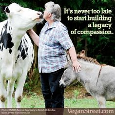 It's never to late to start building a legacy of compassion. #vegan