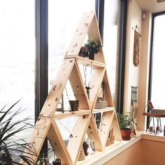 The Carpentry Business at Home - DIY Triangle Display Shelf - craft show display prop idea Learn the Carpentry Business at Home - Discover How You Can Start A Woodworking Business From Home Easily in 7 Days With NO Capital Needed!