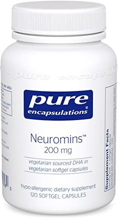 Pure Encapsulations  Neuromins 200 mg  Hypoallergenic Supplement with Vegetarian DHA for Healthy Neural and Visual Development  120 Softgel Capsules *** Check out the image by visiting the link.