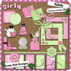 "Cosmetic Kit Clip Art | Scrappin A Latte': ""Girly"" Clip Art Kit"