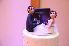 Gamers Wedding Cake Topper by lynnslittlecreations on Etsy