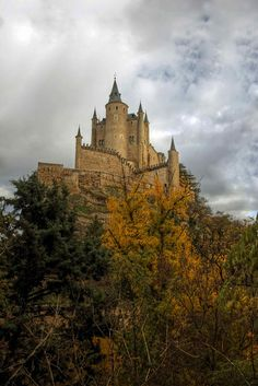 Autumn in Segovia Castle, Spain