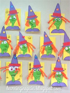 Free October Activities and Printable Resources - Halloween witch craft Halloween Art Projects, Theme Halloween, Halloween Arts And Crafts, Halloween Activities, Fall Crafts, Fall Halloween, Halloween Prop, Halloween Witches, Halloween Crafts Kindergarten