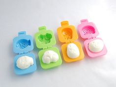 I am secretly obsessed with bento box lunches and I really love these egg molders. B thinks I'm crazy. But it's only $4.00