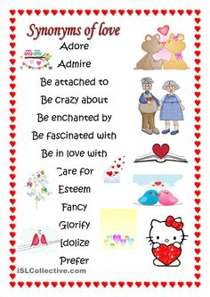 SYNONYMS OF LOVE