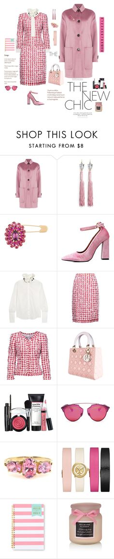 """""""Pink tweed"""" by mbarbosa ❤ liked on Polyvore featuring Burberry, Dolce&Gabbana, Odette, Maggie Marilyn, Oscar de la Renta, Christian Dior, Tory Burch, Day Designer and Design Ideas"""