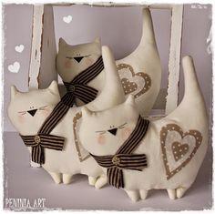 Peninia Art...: Koteczki z serduszkami...