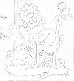 Творческий ПОнедельник. Осенние поделки и вытынанки. Cut Animals, Expresso, Scroll Saw, Kirigami, Halloween, Christmas Art, Classroom Decor, Paper Cutting, All Craft