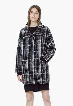 Fekete Kockás Kabát