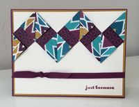 Lynn's fun fold card featuring some of the new Bohemian Designer Series Paper from the 2015-2016 Stampin' Up! Annual Catalog