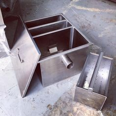 Stainless steel Grease Trap 15 GPM (gallons per minute) available here (we also make 10 and 5 GPM). For your stainless steel food service needs please drop us a message or visit www.mrmetalcorp.com #cebu #food #stainlesssteel #customfabricate #foodservice #sink #drainage #greasetrap #sanitation #kitchen #hotel #restaurant