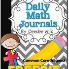 Daily Math Journals for October-CCSS aligned Preschool Journals, Preschool Math, Math Classroom, Kindergarten Math, Teaching Math, Maths, Teaching Ideas, Classroom Ideas, Math Journal Labels
