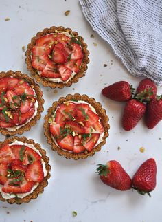 Gorgeous strawberry tarts