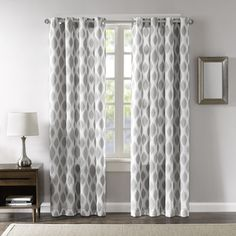 Madison Park Ivy Woven Metallic Ikat Curtain Panel | Overstock.com Shopping - The Best Deals on Curtains