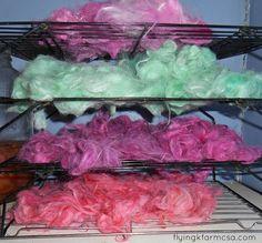 dyed alpaca fiber