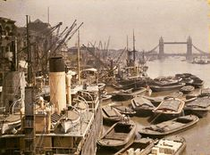 Merchant ships on the River Thames