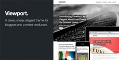 Viewport: Responsive Magazine WordPress Theme - ThemeForest Item for Sale