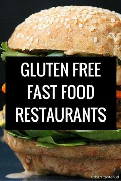 Here's the complete listing to all gluten free fast food restaurant menus