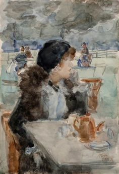 'Isaac' Lazarus  Israels | 1865 - 1934 - Tea time in Hyde Park, Londen