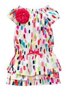 Baby Gap Neon layered ruffle Dress