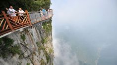 The glass walkway around Tianmen mountain in Hunan is part of the latest…