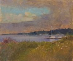New Blood Art | Evening by the River by Ed Cooper | Buy Original Art Online | Quality and Contemporary Artworks by Emerging Artists for Sale