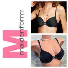Maidenform 34A  Bare necessities Bra Super comfortable,  only worn once and washed! No push-up, just plain. Bear necessities tee shirt bra Black and Tan❤️SUGGESTED USER❤️ Have pets (3 Cats) may not get every single piece of hair from clothing SMOKE FREE HOME SHIPPING VARIES DUE TO WORK NO TRADES NO PP ABSOLUTELY NO LOWBALLING/ABUSING OFFERS DRAMA FREE & RUDE FREE CLOSET  PLEASE DONT START ANYTHING     OR YOU WILL BE BLOCKED Maidenform Intimates & Sleepwear Bras