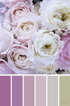 Floral Wedding Bouquet | Color Palette | Color Scheme | Wedding Color Ideas | Color ideas for the Home | Color ideas for Master Bedroom | Color Palette Inspiration