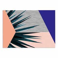 Kess InHouse Pia Schneider Pattern Garden No4 Orange Gold Geometric Memory Foam Bath Mat 17 x 24
