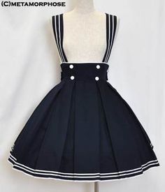Sailor High Waist Skirt Lolita Fashion