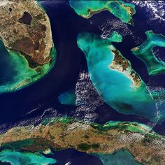 Bahamas, Florida and Cuba seen from space