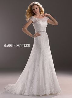 Lovely in lace! Take a look at Jaclyn, available with cropped lace jacket option! LOVE. Modest, simple and beautiful.