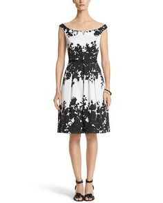 White House | Black Market Floral Fit & Flare Dress #whbm