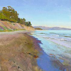 """Marcia Burtt, """"Late Sun, East Beach,"""" acrylic"""