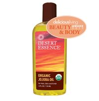 Organic Jojoba Oil - winner of Delicious Living's Beauty & Body Awards 2013!