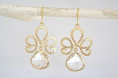 crystal clear gold tiara earrings  CLICK THE PIC to see more beautiful items