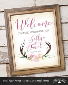 Hey, I found this really awesome Etsy listing at https://www.etsy.com/listing/271680886/rustic-wedding-sign-boho-wedding-sign