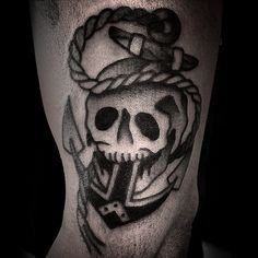 #tattoo #skulltattoo #anchortattoo