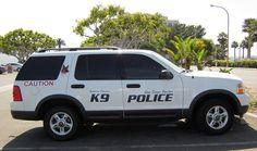 The K-9 police truck