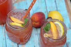 Iced Peach Tea Lemonade I love iced tea anything and this variation is very refreshing.