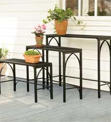 Nesting plant stands - I am having gardening fever, someone please buy this for me!