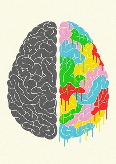 """That whole """"Right brain/Left brain"""" myth is bunk, but that doesn't keep this picture from being awesome."""