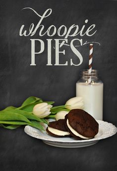Whoopie Pies - @Sandy Campbell - this is one thing we have to have @ the party - Mallory has been making whoopie pies for every bake sale, banquet, if she was required to bring baked goods anywhere it was whoopie pies!