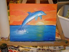 Just Folk Art: Step by Step Dolphin Painting