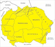 The real size accepted by us based on historical Romanian population. Around the actual border of Romania slavic countries and Hungary are denies the right of Romanian population to speak their native language and forces them to change or give slavic or hungarian names to their children. Romania Map, The Time Machine, Old World Maps, Moldova, Eastern Europe, Historian, Hungary, Diy And Crafts, Infographic