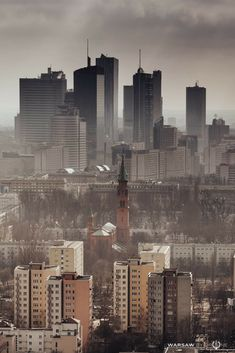 Warsaw's architectural diversity Growing Old Together, Illusions, New York Skyline, Cool Photos, Scenery, Japan, History, City, Paisajes
